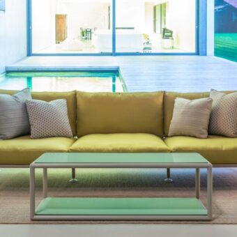 Linear Sofa Nest 270, new color lino powder coated frame