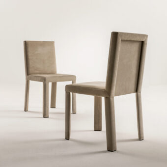 CHAIR FRAME COVERED WITH LEATHER