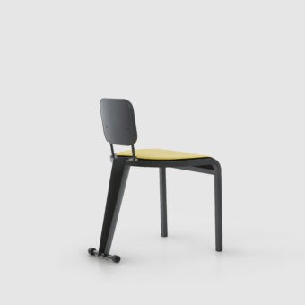 ROCK CHAIR WITH LEATHER SEAT
