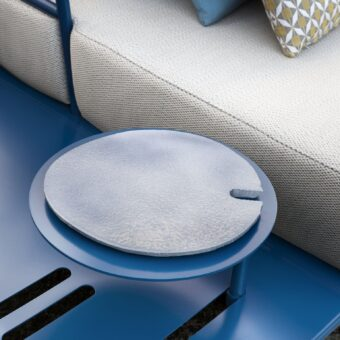 SMALL TABLE FOR SIDE EXTENSION WITH CERAMIC PLATE