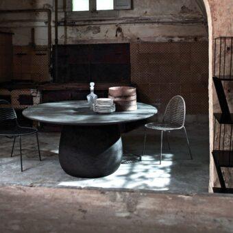 INCONTRO TABLE - GREY LAVA STONE